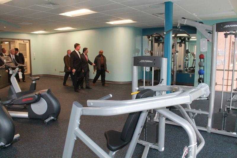 Mayor Sarno and others tour the new South End Community Center