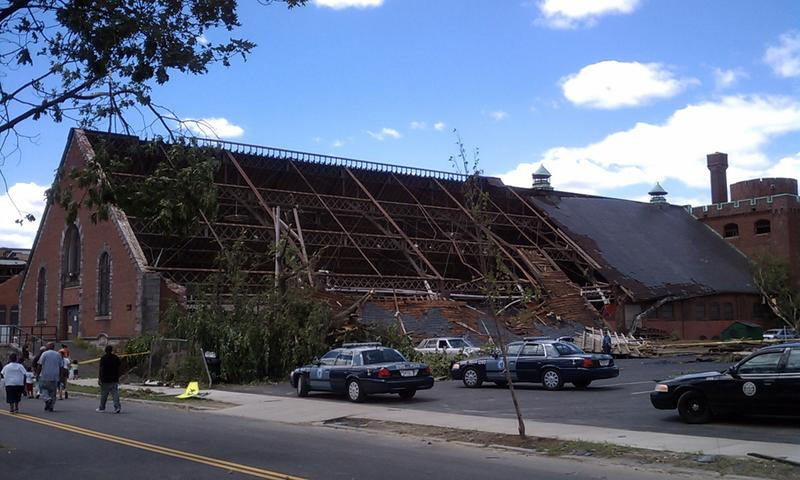 The former South End Community Center on Howard Street was ruined by a tornado. as seen in this picture taken on June 2, 2011