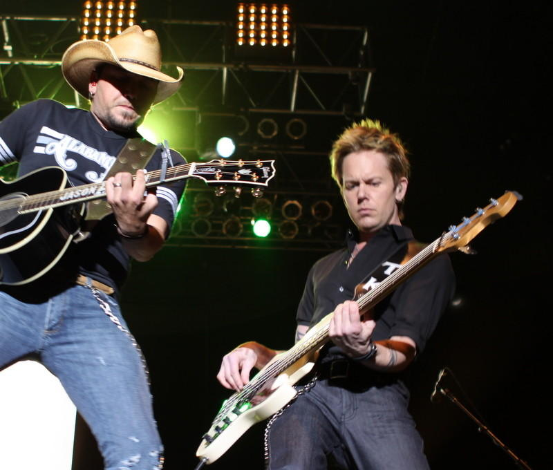 Tully Kennedy, right, with Jason Aldean in an undated photo
