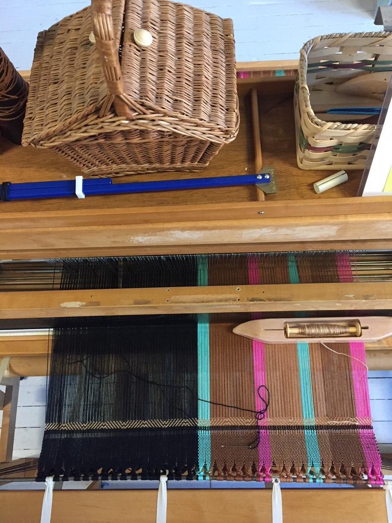 Fabric inside weaver Paula Veleta's studio.