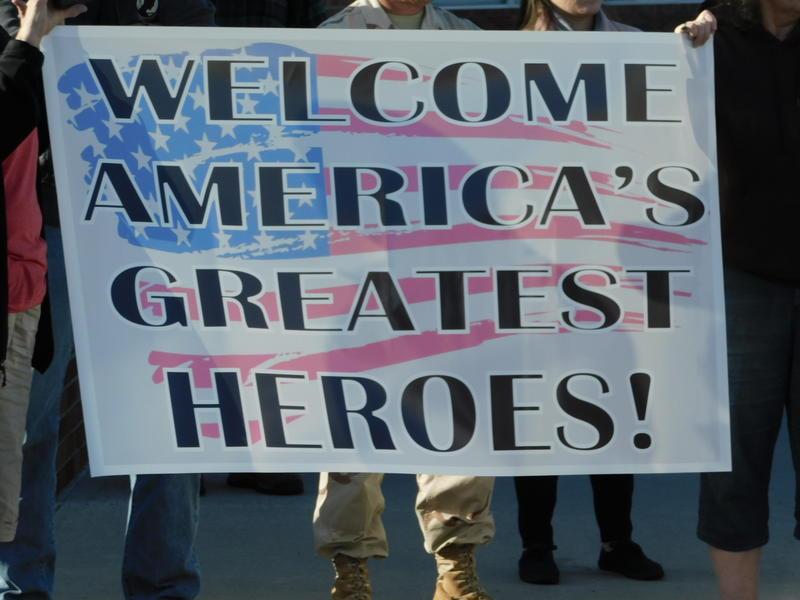 Greeting the veterans