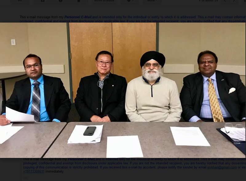 Ripon Roy for Bangladeshi community, Than Dr. HP Wang for Chinese community, Dr.Gopal Singh for the Sikh Community and E.Nisar Khan for Pakistan / Africa