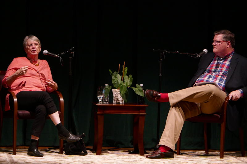 Lois Lowry and Joe Donahue at Page Hall