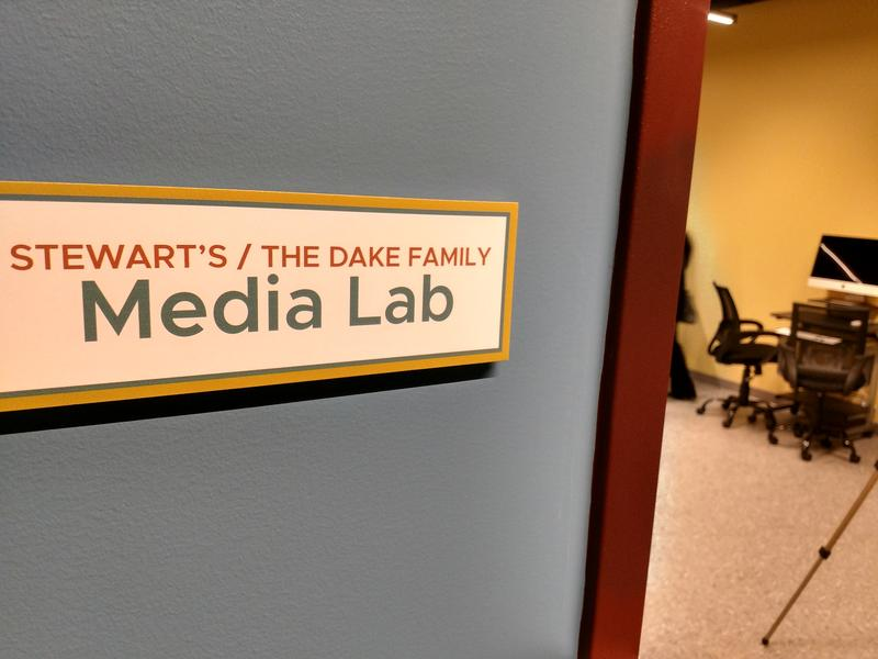 A peak at the new media lab at the Addy
