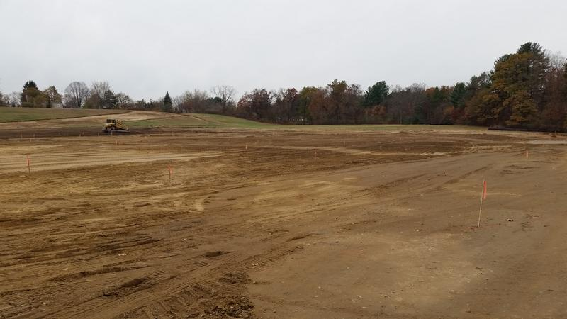 The soccer fields will be seeded with grass and ready for play in Spring 2019