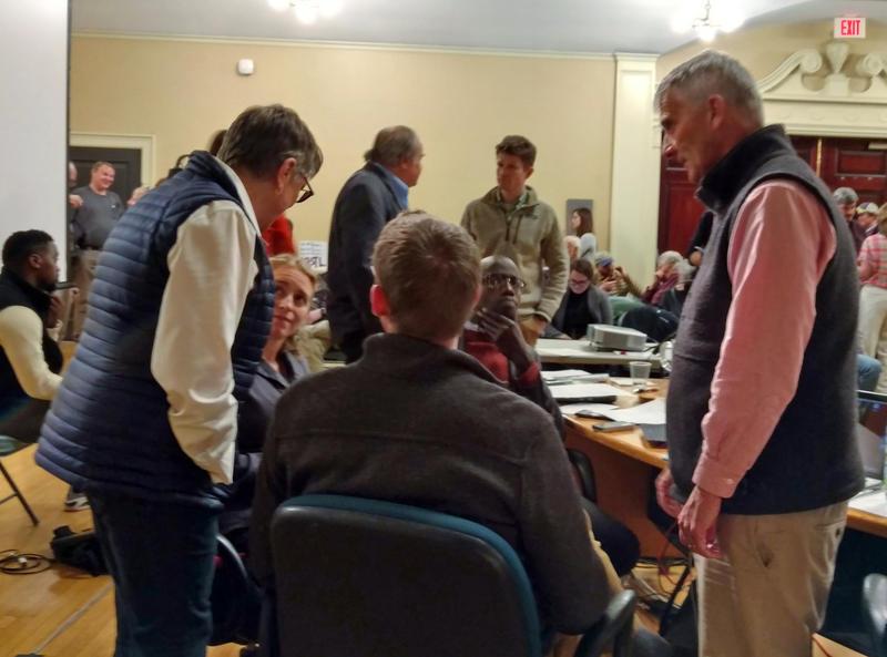 Burlington councilors discuss options during recess