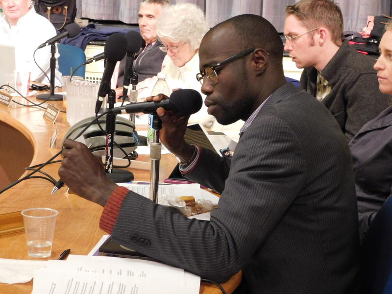 Ward 7 Democrat/Progressive Ali Dieng reads joint venture resolution