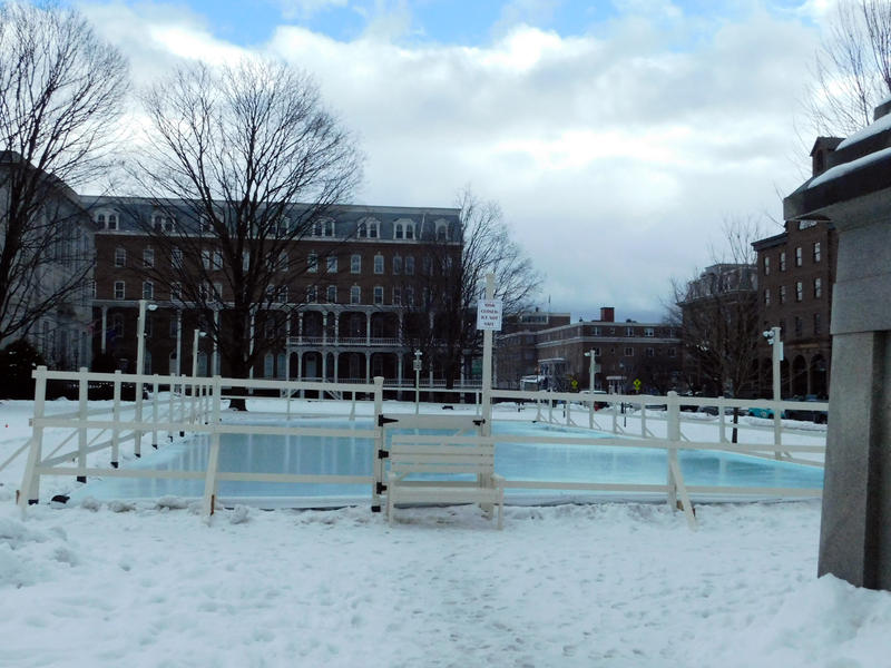 Montpelier ice rink on Statehouse grounds January 4, 2017