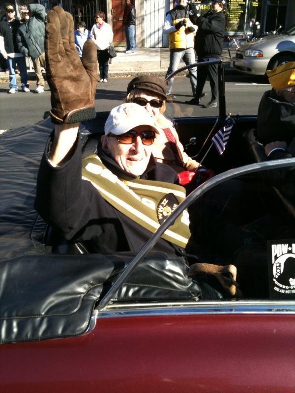 Paul Elisha in the Albany Veterans Day Parade
