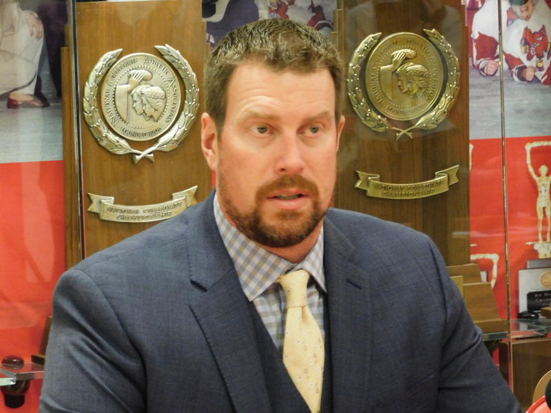 Ryan Leaf meets with reporters at SUNY Plattsburgh