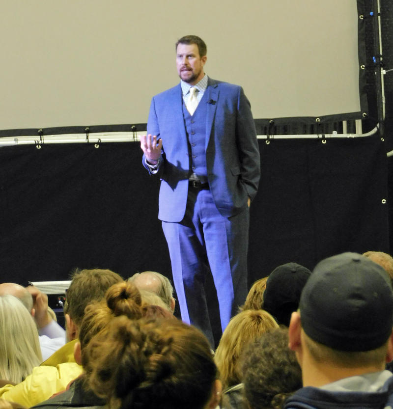 Ryan Leaf speaking at SUNY Plattsburgh