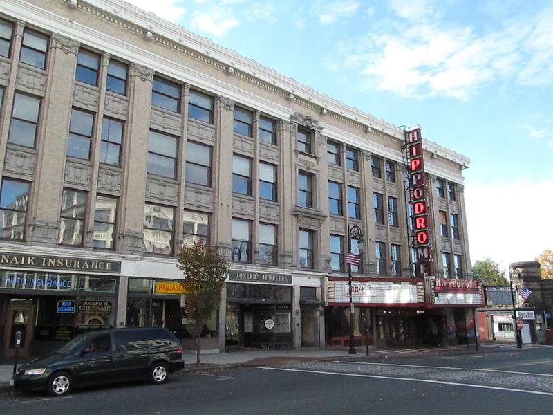 The Paramount Theater, when it was the Hippodrome nightclub, and adjoining Massasoit Building on Main Street.