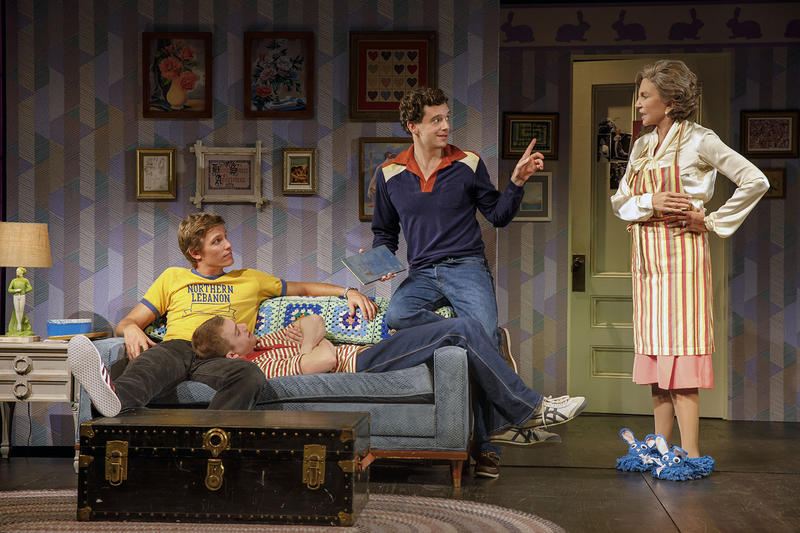 "Ward Horton, Jack DiFalco, Michael Urie, Mercedes Ruehl in ""Torch Song"" at Second Stage Theater"