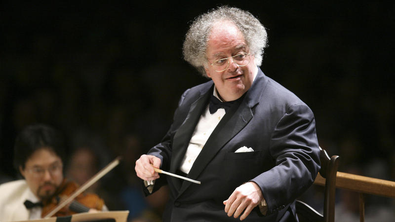 Former Boston Symphony Orchestra Music Director James Levine conducts the symphony on its opening night performance at Tanglewood in Lenox, Mass., in 2006.