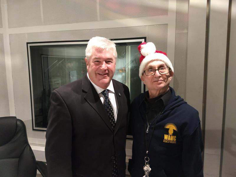 Assembly Minority Leader Brian Kolb with WAMC's Alan Chartock