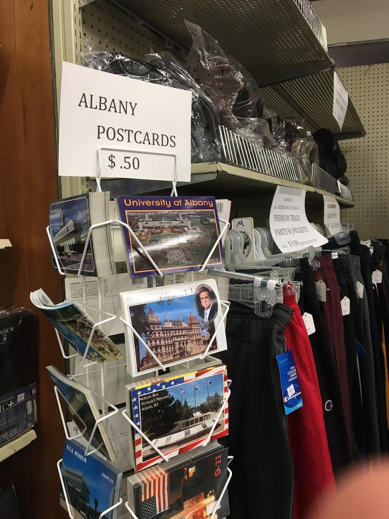 Merchandise on display at Lodge's