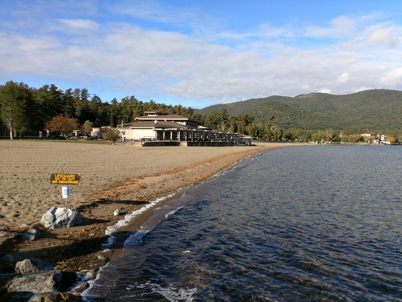 An empty Million Dollar Beach during the off-season