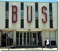 The Peter Pan Bus terminal building