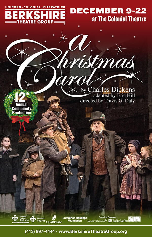 Berkshire Theatre Group's A Christmas Carol poster