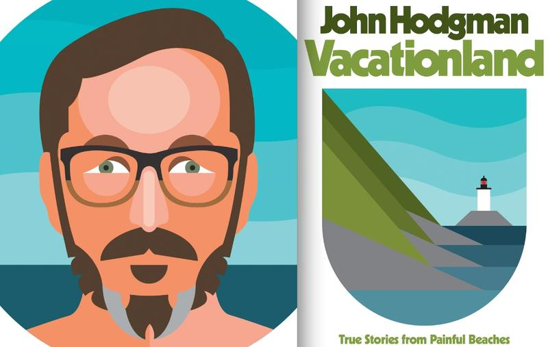 John Hodgman Vacationlan book cover and portrait