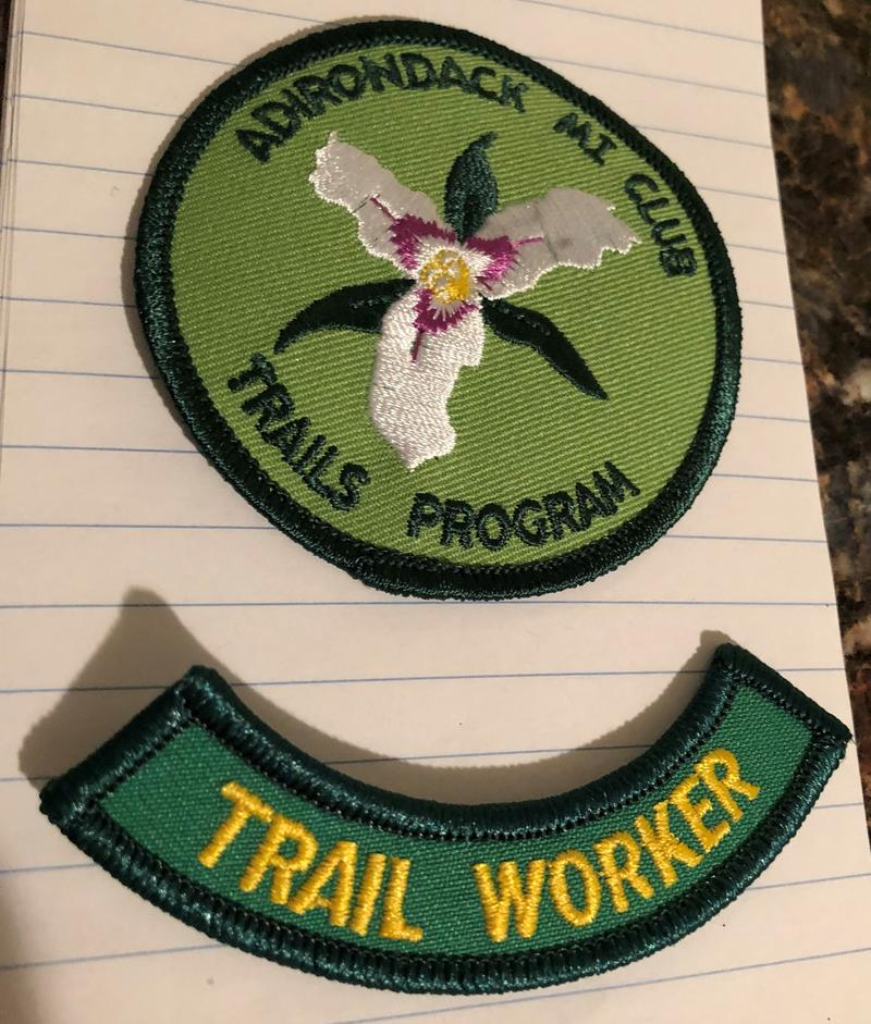 Patches given to us for volunteering our time