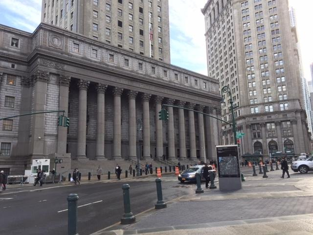 Thurgood Marshall Federal Court House in lower Manhattan