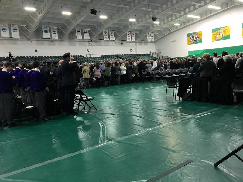 Services held at Siena College for Trooper Michael Anson.