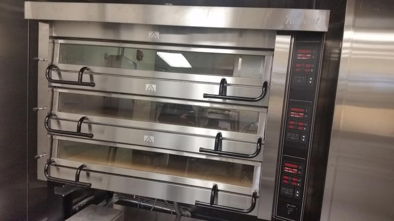 Ovens in the bake shop at the culinary institute