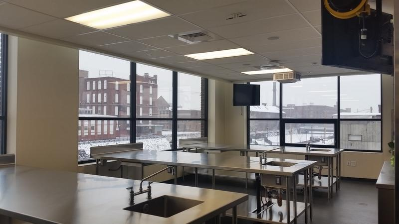 A classroom at the culinary institute