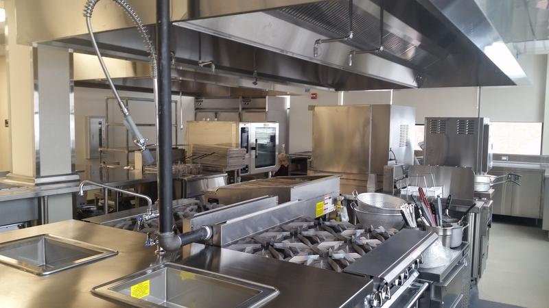 One of the five kitchens in the HCC-MGM Culinary Institute