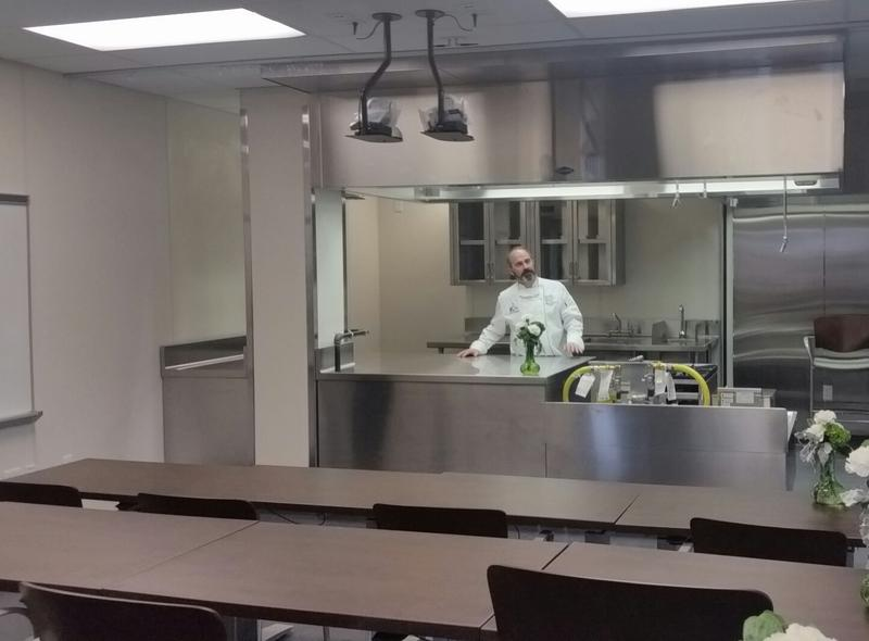 Warren Leigh in the teaching kitchen