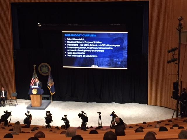 NY Gov. Andrew Cuomo delivers his 2018 budget address