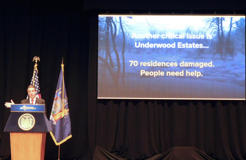 Governor Andrew Cuomo announces aid for flooded Underwood residents