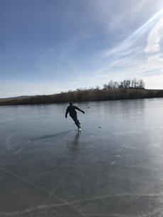 Skating at Ooms Pond, Chatham, NY