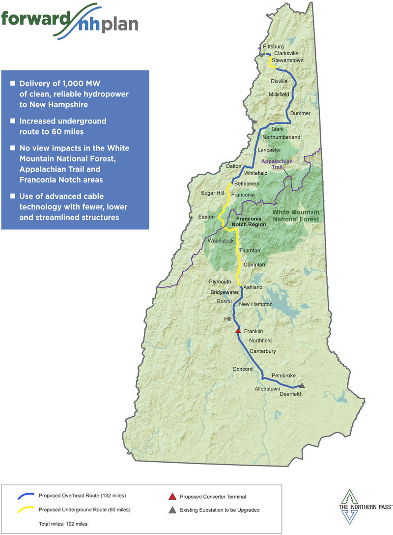 Northern Pass route map