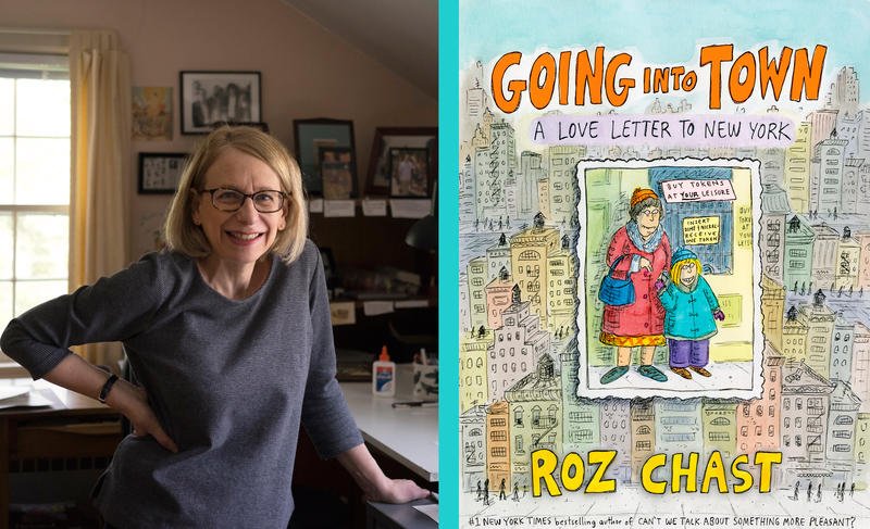 Roz Chast and book cover for Going into Town