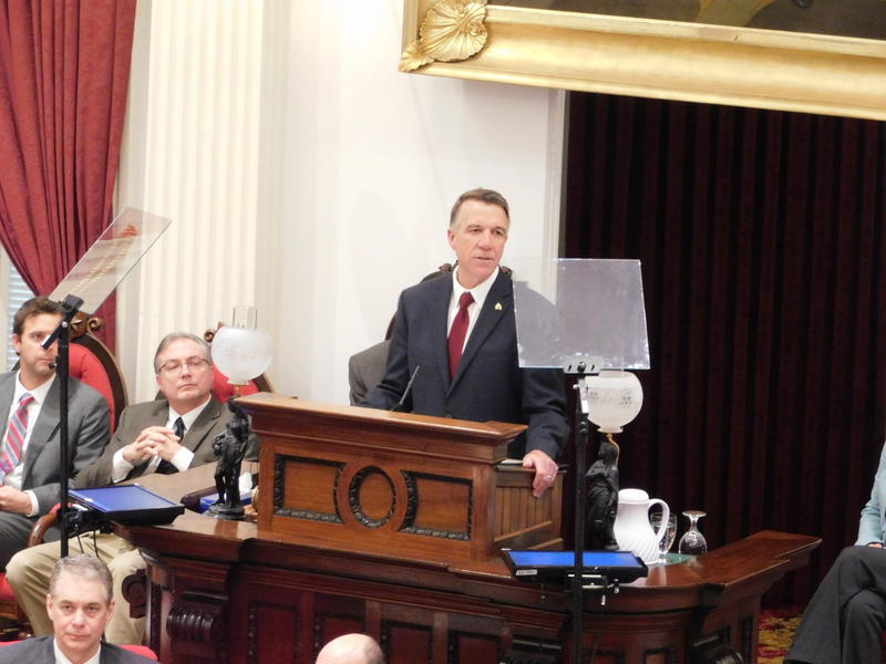 Vermont Governor Phil Scott delivers budget address on January 23, 2018