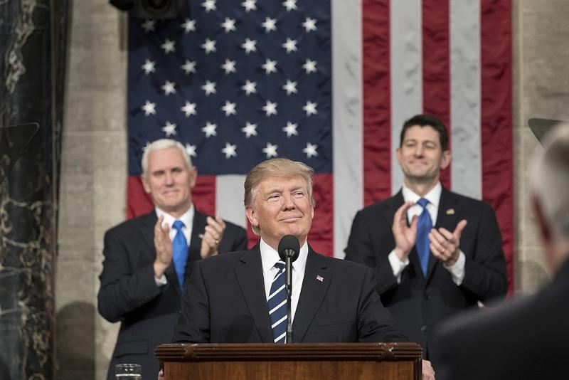 President Trump addressing a joint session of Congress in February 2017.