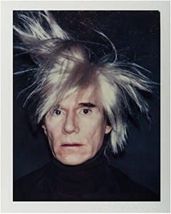 Andy Warhol, Self Portrait in Fright Wig, 1985, Polaroid Polacolor print,