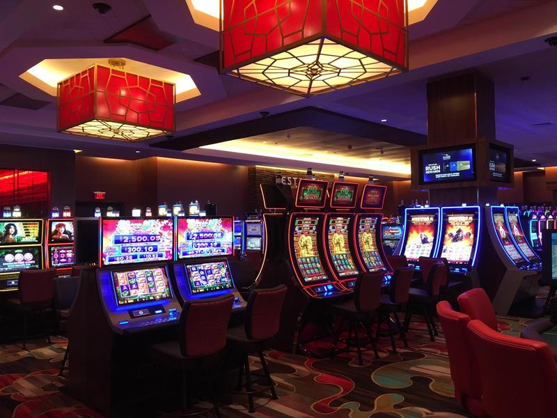 The gambling parlor at the Rivers Casino & Resort