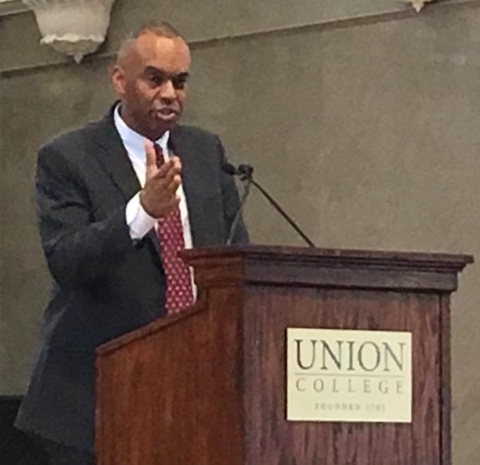 Dr. David Harris will become the first African-American president of Union College on July 1st.