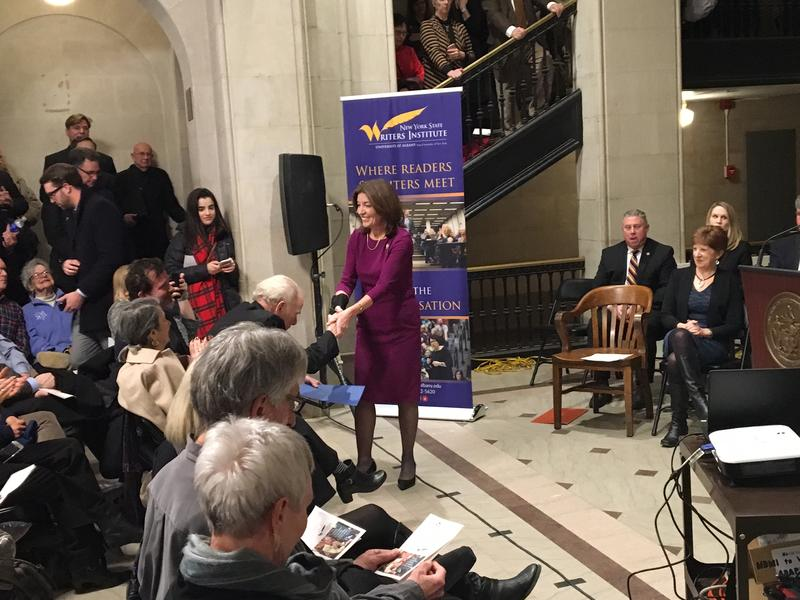 Lt. Gov. Kathy Hochul addresses the gathering.
