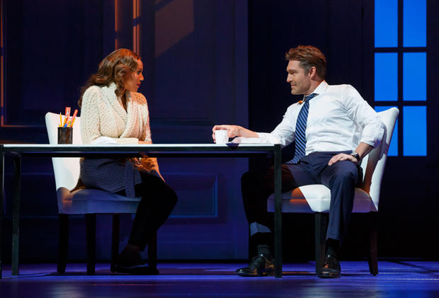 "Deborah Cox as Rachel Marron and Judson Mills as Frank Farmer in ""The Bodyguard"""