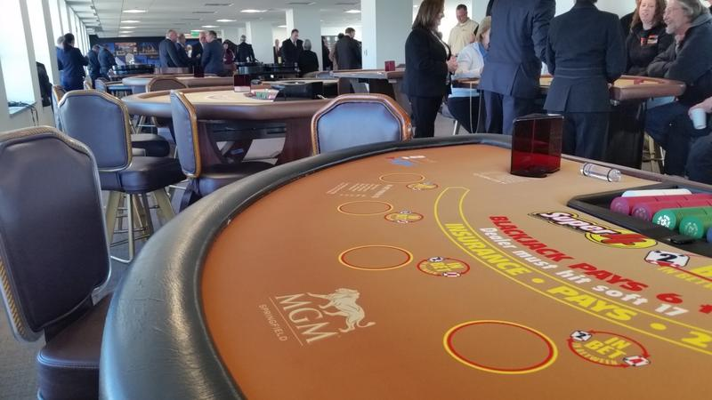 The Mass. Casino Career Training Institute has 30 gaming tables.