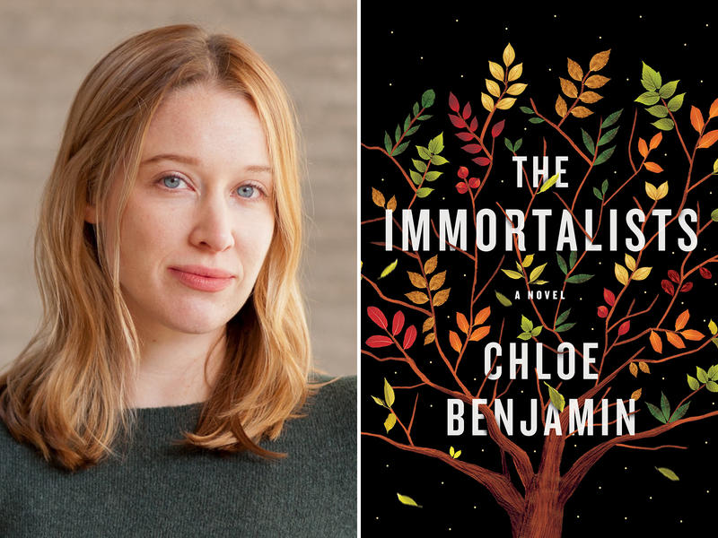 Chloe Benjamin and book cover for The Immortalists