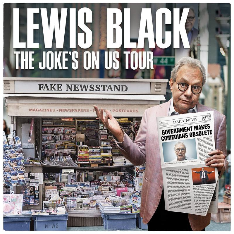 Lewis Black The Joke Is On Us Tour Artwork