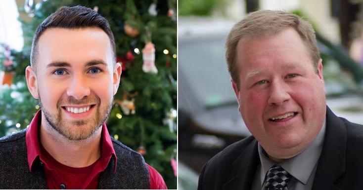 Democrat Aidan O'Connor Jr. (left) and Republican Chris Tague (right)