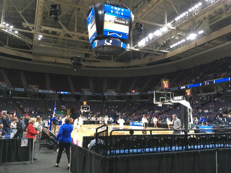 The Times Union Center is hosting the NCAA women's tourney.