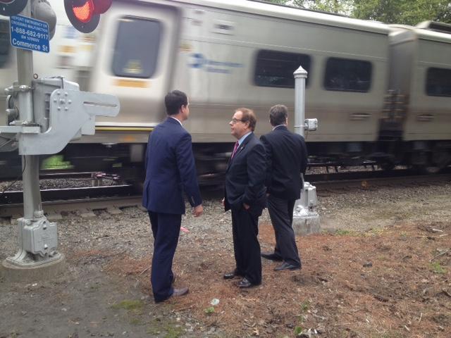 NYS Senator David Carlucci (left), NYS Assemblyman Tom Abinanti to his right