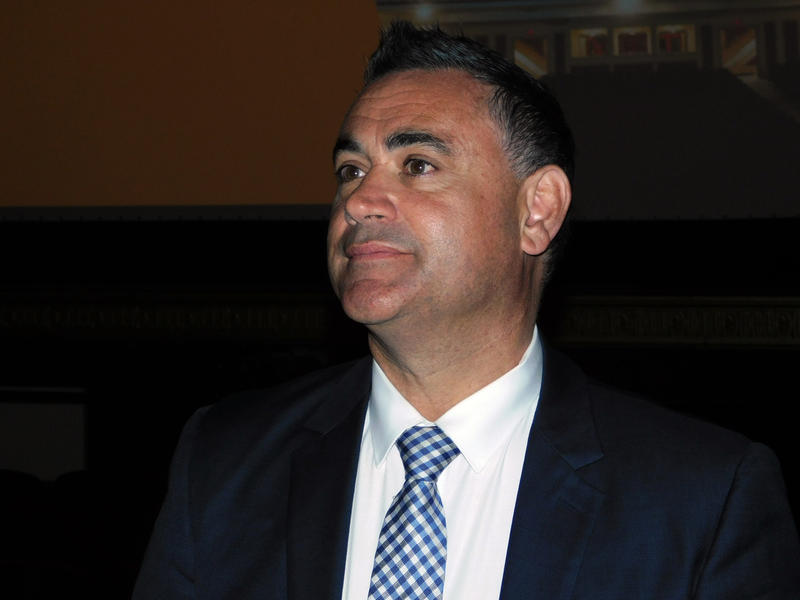 New South Wales Deputy Premier John Barilaro at the Strand Theatre in Plattsburgh